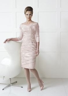 Irresistible by Veromia at dressini, occasion wear Mother Of The Bride Fashion, Mother Of Bride Outfits, Necklines For Dresses, Dresses With Sleeves, Occasion Wear Dresses, Short Fitted Dress, Wedding Outfits For Women, Ruched Dress, Pretty Dresses