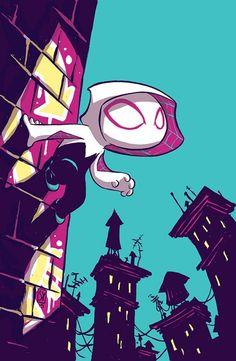 #Spider #Gwen #Fan #Art. (Spider-Gwen #1 Variant Cover) By: Skottie Young. (THE * 5 * STÅR * ÅWARD * OF: * AW YEAH, IT'S MAJOR ÅWESOMENESS!!!™) ÅÅÅ+