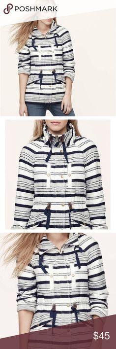 Brand new Loft Striped Jacket Brand new Loft Navy blue and White Striped Jacket size M LOFT Jackets & Coats