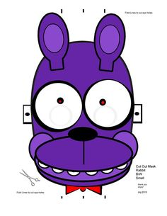 photo about Five Nights at Freddy's Printable Mask named 5 Evenings @ Freddys