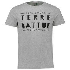 RG16 - T-shirt homme en jersey - Imprimé « Message » - Capsule French Open – Coloris Gris chiné – 35e