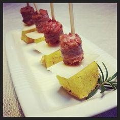 Bocconcini di polenta fritta alla carbonèra | Honest Cooking Italia