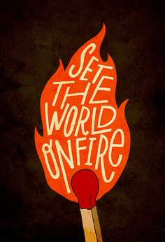 World On Fire by Jay Roeder, via Flickr