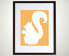 INSTANT DOWNLOAD | Cute Squirrel Silhouette Illustration | Shanna Riehl Art Shoppe | $3.50