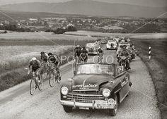 Walter Diggelman, Sveits, vinner 9.etappe av Tour De France, med tiden 7 timer/ 23min/ 16sek., 3.juli 1952. Foto: POLYFOTO/ Arkiv Sturlason