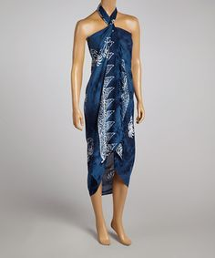 Look at this #zulilyfind! Lakhay's Collection Navy Coconut Sarong by Lakhay's Collection #zulilyfinds
