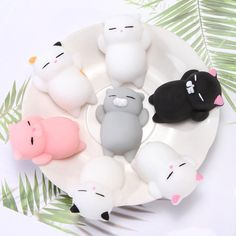 Very cute mini squishy mochi cats. They are among our best seller collection. Children love to own these cute toys and to collect them. They are so cute that y Stress Toys, Stress Relief Toys, Biscuit, Balle Anti Stress, Slime Toy, Birthday Gifts For Kids, Cute Toys, Color Changing Led, Child Love