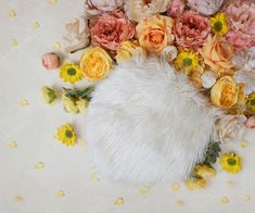 Floral Photography, Photography Backdrops, Pink Fur Wallpaper, Easter Backgrounds, Girl Background, Floral Backdrop, Digital Backdrops, Photographing Babies, Baby Girl Newborn