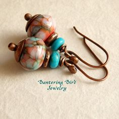 Colorful Lampwork Glass Earrings Small Glass Bead by BanteringBird  What a great pair of earrings to grab quickly and make any outfit look all the better!