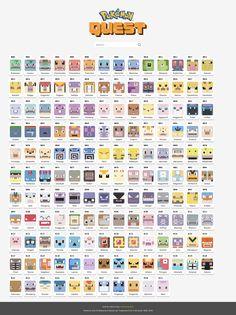 pokemon quest encyclopedia #pokemon #quest #guide #pokemonquest #pokemonquestguide #pokemonquestpedia Pokemon Go List, All Pokemon, Pokemon Stuff, Pokemon Craft, Girls Life, Vinyl Figures, Pikachu, Fandoms, Cool