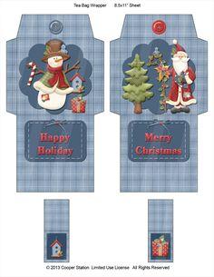 WeihnachtenDigital TeeWrapper von CooperStation auf Etsy