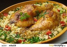 No Salt Recipes, Top Recipes, Chicken Recipes, Cooking Recipes, Healthy Recipes, Czech Recipes, Good Food, Yummy Food, Cooking Light