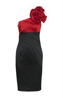 Wear this classic and chic red and black dress to any holiday party.