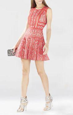 Shira Round-Neck Lotus Burnout Dress