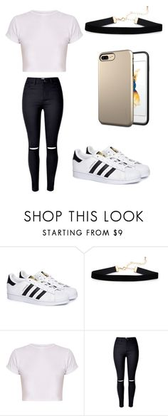 """casual"" by briebrie-diva on Polyvore featuring adidas and Luvvitt"