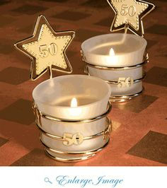 The adorable keepsakes are ideal for guests to take home! Our Gold Star 50 Design Celebration Favors are also great for 50th birthday party favors, too. $3.25  http://www.favor-days.com/gold-star-50-celebration-favors.html#