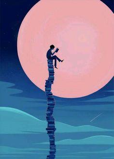 Illustration and Animation Art And Illustration, Inspiration Art, Art Inspo, Fantasy Kunst, Fantasy Art, Book Wallpaper, Reading Wallpaper, Reading Art, World Of Books