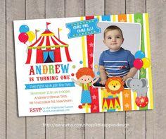 Invitación circo invitan a Circo / carnaval por DreamyDuck en Etsy