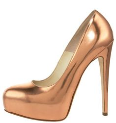 Rose Gold Brian Atwood Pumps... In my dreams. $595