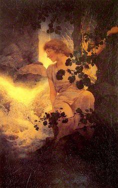 maxfield parrish prints for sale | Maxfield Parrish Paintings - Maxfield Parrish Deep Woods Moonlight ...