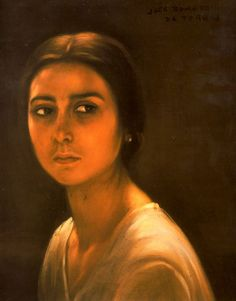 SELYSE FLORENT, at 16 ( A woman from Córdoba by Julio Romero de Torres, 1928)