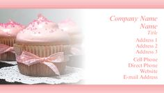 Cupcakes #BusinessCard
