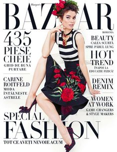Iulia Cirstea in Dolce&Gabbana for Harper's Bazaar Romania March/April 2015