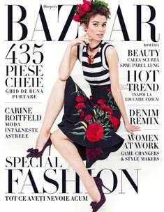 Iulia Cirstea in Dolce&Gabbana for Harper's Bazaar Romania March/April 2015