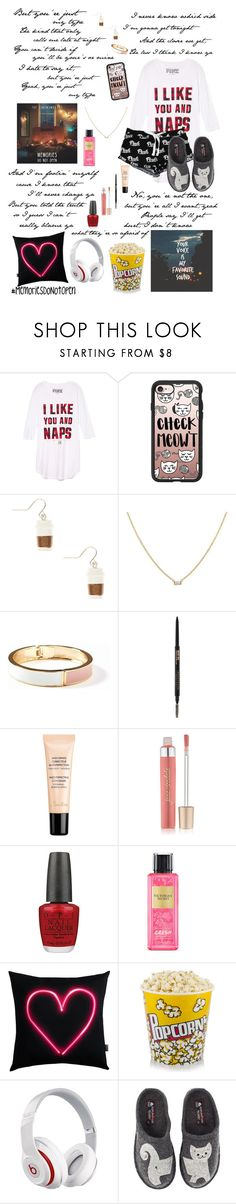 """""""My Type"""" by enchantingfashions ❤ liked on Polyvore featuring Victoria's Secret PINK, Casetify, Old Navy, Guerlain, Jane Iredale, OPI, Victoria's Secret, Beats by Dr. Dre, Haflinger and MemoriesDoNotOpen"""