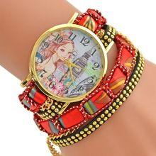 2016 populární módní design dívka a Big Ben Hodinky ležérní styl náramek hodinky dámských oděvů Geneva značka hodinek s dlouhým řetězcem (Čína (pevninská část))
