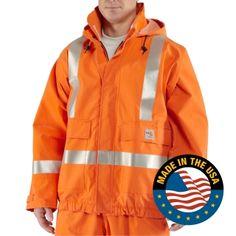Carhartt 100447 Men's Flame-Resistant Rain Jacket  #Flame-Resistantjacket