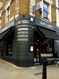 Franze & Evans cafe, Shoreditch, London. UK. Best. Coffee. Ever (outside of Italy of course...)