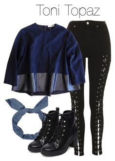 Toni Topaz - Riverdale by shadyannon on Polyvore featuring polyvore fashion style Balenciaga Topshop Steve Madden clothing