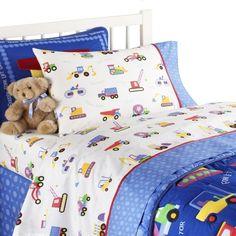 Olive Kids Under Construction Queen Sheet Set: #bedroom - http://bedroom-outlet.com