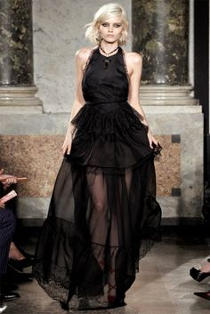 she is like the Queen of Vampire with those black sheer dress and red shoes! - Pucci SS 2012 by corina