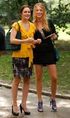 Still of Blake Lively and Leighton Meester in Gossip Girl