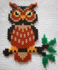 Owl - Owl For example. hang window - Owl – Owl For example. Pearler Bead Patterns, Bead Loom Patterns, Perler Patterns, Beading Patterns, Owl Patterns, Peyote Patterns, Quilt Patterns, Hama Beads Design, Diy Perler Beads