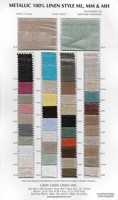 Metallic Linen - $14/yard via little green notebook