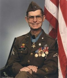 Desmond Thomas Doss (February 7, 1919 – March 23, 2006) was a United States Army corporal and combat medic during World War II. He was assigned to a rifle company of the 1st Battalion, 307th Infantry, 77th Infantry Division, during the Battle of Okinawa, and became the first of three conscientious objectors to receive the Medal of Honor (the others are Thomas W. Bennett and Joseph G. LaPointe, Jr.).