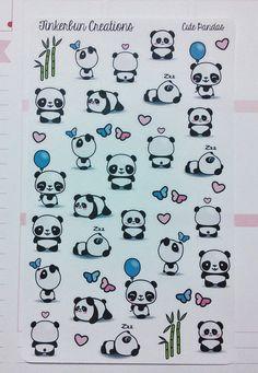 Cute Panda Stickers