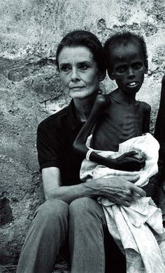 You can see that her heart is breaking for the child in her arms.  Audrey was not a goodwill ambassador for UNICEF just for good publicity.  Audrey was truly passionate about helping children suffering in poverty.