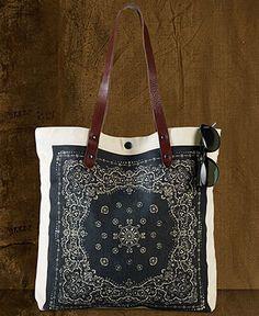 Denim   Supply Ralph Lauren Leather-Strap Bandana-Print Canvas Tote Women -  Women s Brands - Macy s. Ethnic BagBandana ... 112773629e5cb