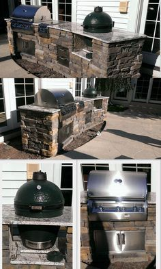 Custom Outdoor Kitchen and grill ideas. You'll simply enjoying time as a family! #OutdoorKitchen #OutdoorGrill