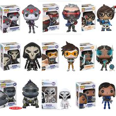 GBP - Funko Pop Widowmaker Reaper Tracer Winston Vinyl Figure Overwatch Game In Box Uk Batman Figures, Funko Pop Figures, Pop Vinyl Figures, Action Figures, Overwatch Pop Vinyl, Overwatch Pop Figures, Overwatch Merchandise, Anime Figurines, Widowmaker