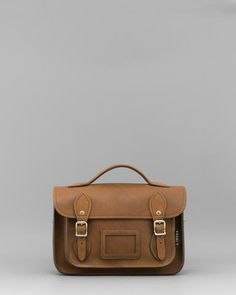 Dewhurst 10.5 Brown Leather Satchel by Yoshi A