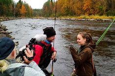 wędkarstwo muchowe = fly fishing wedkarski = fishing  If I'm not totally mistaken!