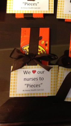 One gift we gave the nurses for nurses week!