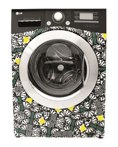 Holly Fulton for LG - Great idea. White Washing Machines, Holly Fulton, Secret Hideaway, Laundry Room Inspiration, Barn Living, Home Tech, Black Kitchens, Washer And Dryer, Home Interior Design