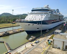 Panama Canal, the ship I worked on, The Island Princess, was the largest ship that could go through the canal. We used to scrape the sides every time we went through.