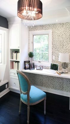 Inspiring Home Offices for Girl Bosses - Amy Howard Social Need some feminine and fabulous home office inspiration? Take a look at these inspiring home office Home Office Space, Home Office Desks, Office Nook, Desk Space, Office Spaces, Work Spaces, Ikea Office, Office Setup, Small Office